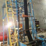 دستگاه تولید نایلون و نایلکس در حال کار